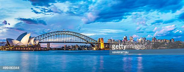 beautiful sunset in sydney - sydney stock pictures, royalty-free photos & images
