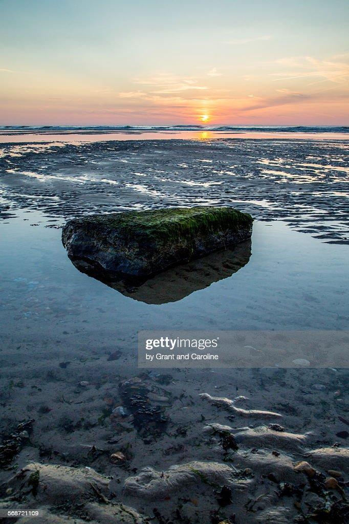Beautiful Sunset, Northern France : Stock Photo