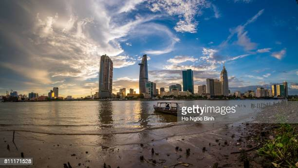 Beautiful Sunset over Saigon - the biggest city in Vietnam