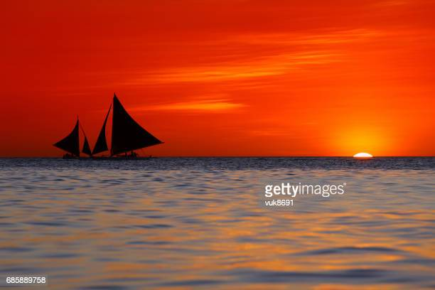 beautiful sunset - colorful sunset stock photos and pictures