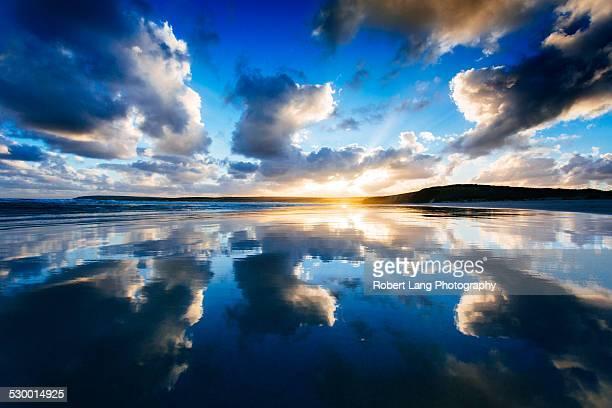 Beautiful sunset reflections