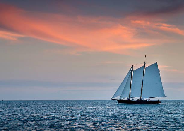 Beautiful Sunset Sail In Key West Florida Wall Art