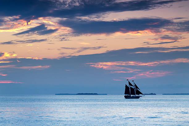 Beautiful Sunset Sailing In Key West Florida Wall Art