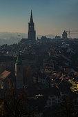 Beautiful sunset time at capital city of Switzerland ' Bern '