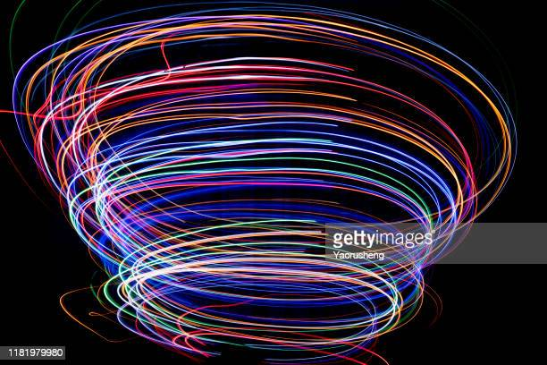 beautiful swirls, colorful vortex - spinning stock pictures, royalty-free photos & images