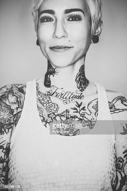 Beautiful Tattooed Woman Portrait