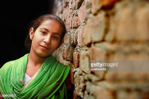 beautiful teenage girl portrait - indian beautiful girls stock photos and pictures