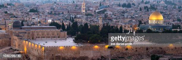 beautiful temple mount, jerusalem, israel - temple mount stock pictures, royalty-free photos & images