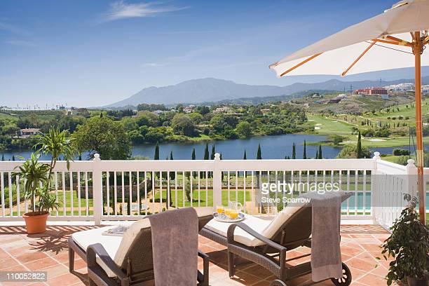 Beautiful terrace in luxury property