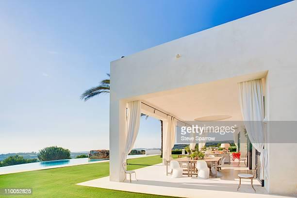 Beautiful terrace in luxury villa, Spain