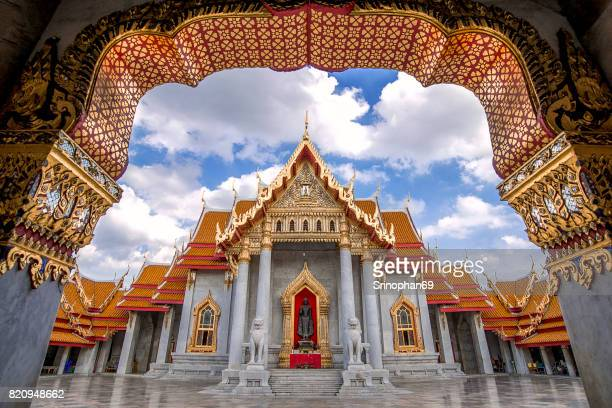 Beautiful Thai Temple, Wat Benjamaborphit, temple in Bangkok, Thailand