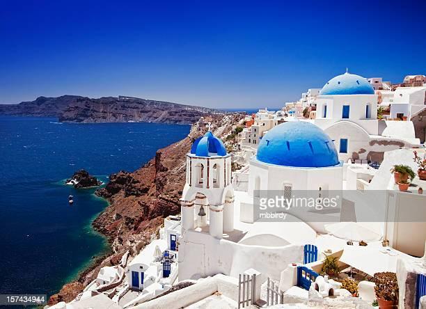 Wunderschönes Reiseziel (Ia) Oia Dorf auf der Insel Santorin, Griechenland