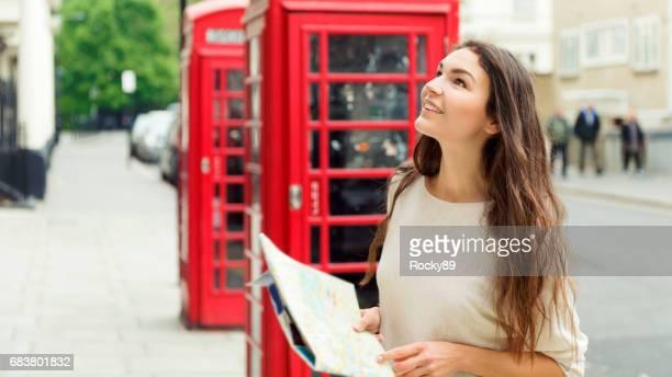 Beautiful Traveler in London, UK