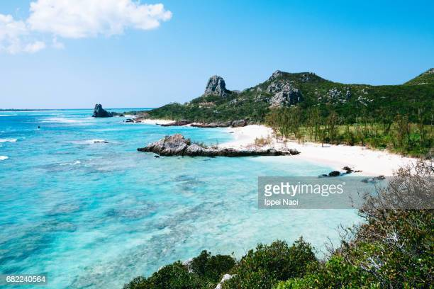 Beautiful tropical beach and clear blue water, Okinawa, Japan