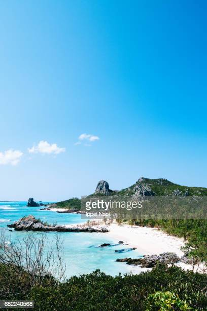 Beautiful tropical beach on a remote island of Okinawa, Japan