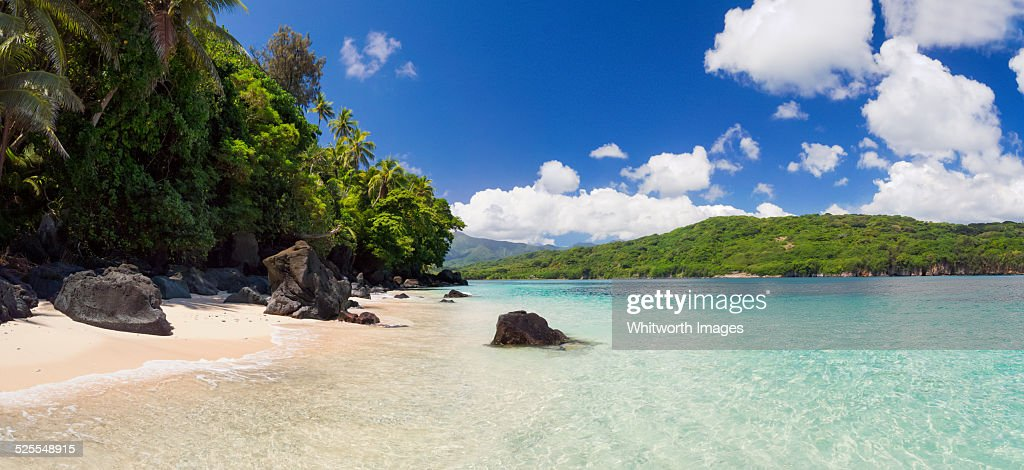 Beautiful tropical beach on Tanna Island, Vanuatu : Stock Photo