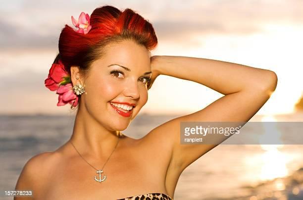 Beautiful Tropical Island Girl