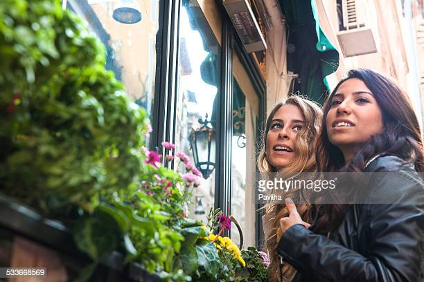 Beautiful Turkish Women Shopping in Bayoglu, Taxim, Istanbul, Turkey