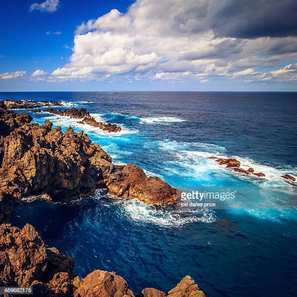 Beautiful turquiose water off Madeira's north coas