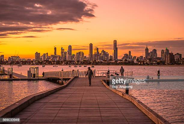 Beautiful twilight, Melbourne, Australia.