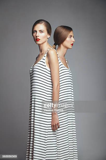 beautiful twins - sister stock pictures, royalty-free photos & images