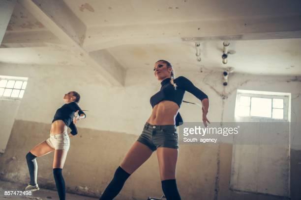 Beautiful two dancers