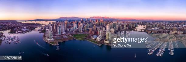 beautiful vancouver downtown - vancouver canada stockfoto's en -beelden