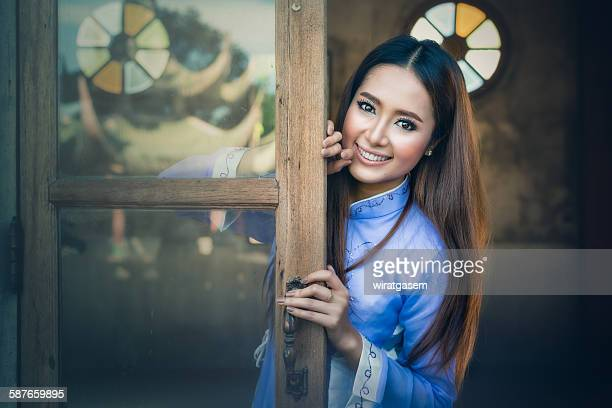 beautiful vietnamese girl - wiratgasem stock photos and pictures
