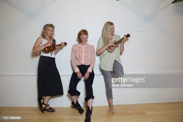 Beautiful View director Andrea Donaldson and cast Maev Beaty and Liisa RipoMartell photographed at 371 Danforth Ave Dream Yoga Dance studio August 23...
