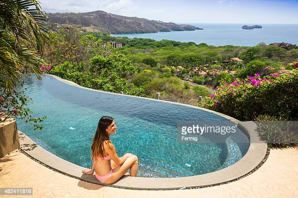 Beautiful view from the pool deck in Costa Rica