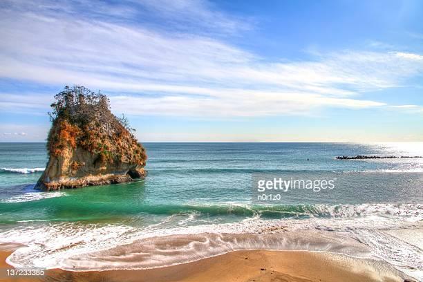 Beautiful view of beach of Ibaraki, Japan