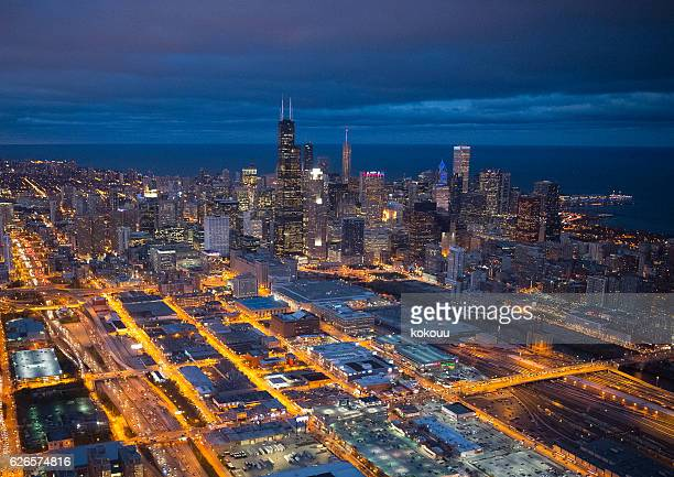 Beautiful view of Chicago from the sky