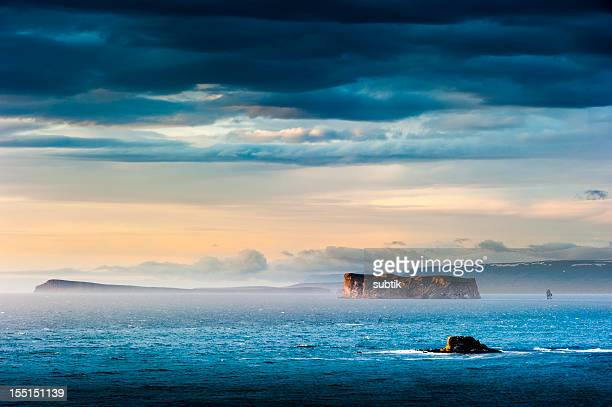 Beautiful view of dragnet island in Iceland