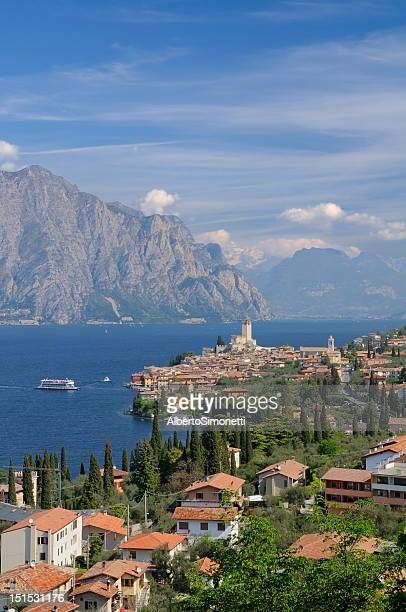 Beautiful view of Garda Lake in Malcasine, Italy
