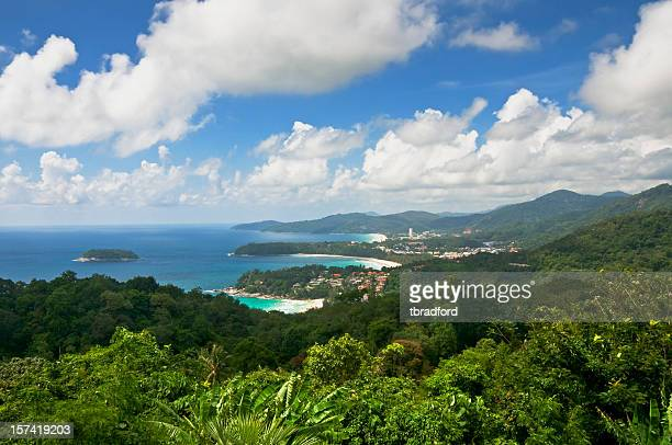 Beautiful View Of Kata and Karon Beach In Phuket, Thailand