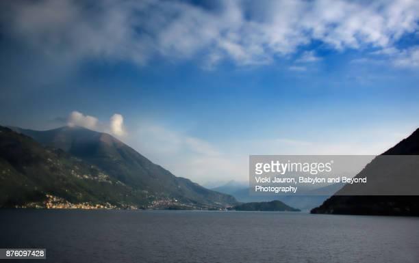 Beautiful View of Lake Como in Fall