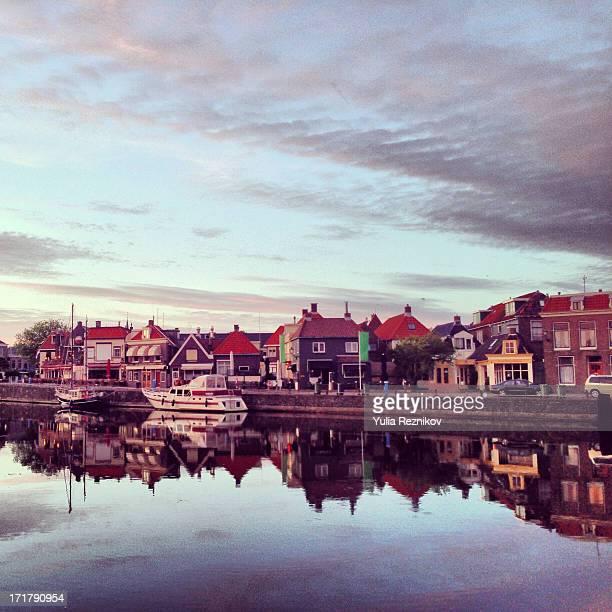 Beautiful view of Lemmer,Netherlands