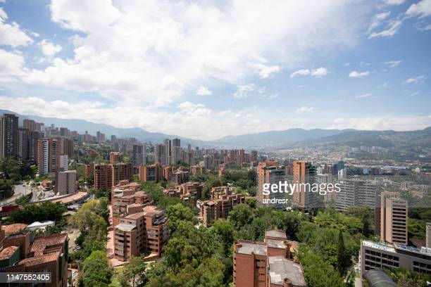 beautiful view of medellin, colombia - colombia stock pictures, royalty-free photos & images