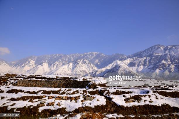 Beautiful View Of North Kashmir Baramulla And Bandipora In Winter