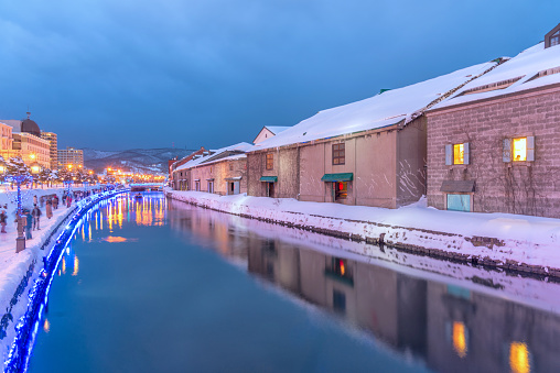 Beautiful view of Otaru canal , Otaru is most popular travel destination city near sapporo in Hokkaido. - gettyimageskorea