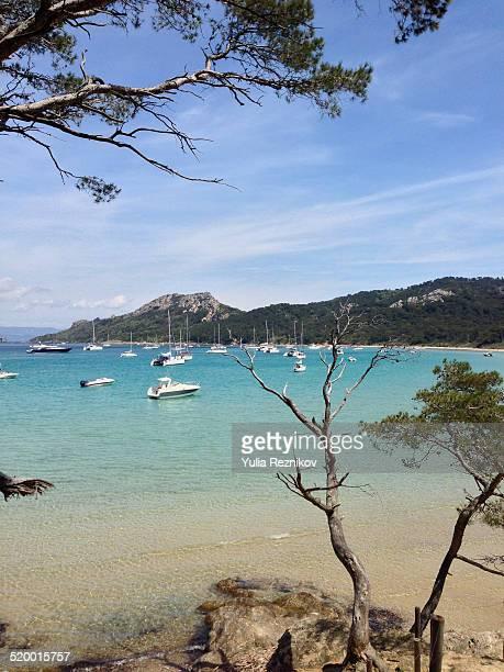 Beautiful view of Porquerolles island