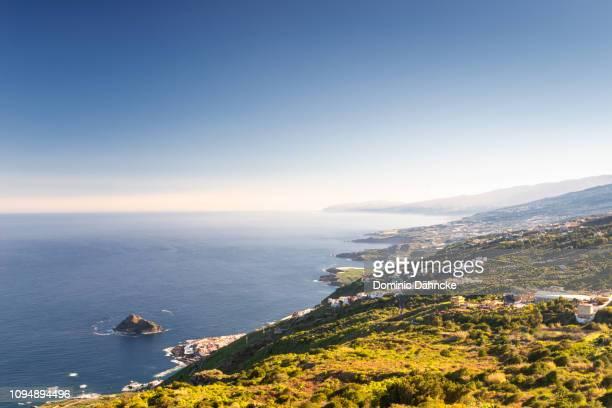 beautiful view of tenerife's north coastline, in canary islands (spain) - norden stock-fotos und bilder