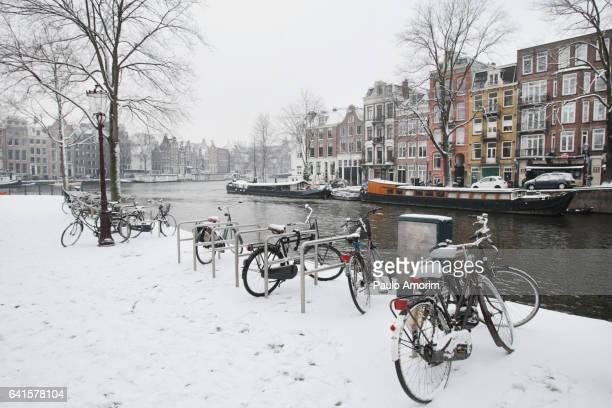 Beautiful View of the Amstel River in Amsterdam