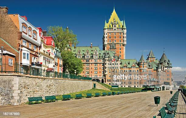 Beautiful view of the Chateau Frontenac Hotel in Quebec