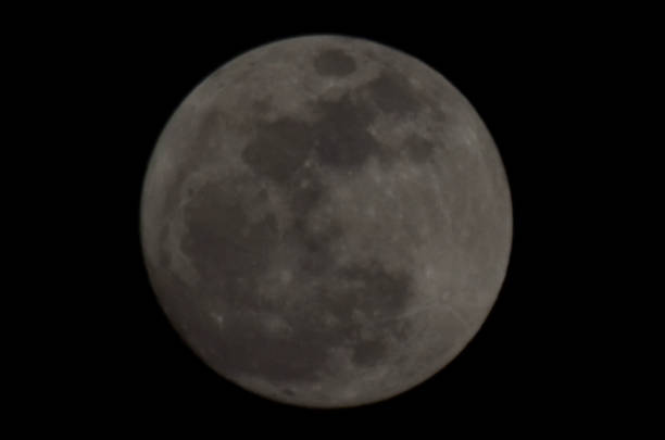 A beautiful view of the first super moon of New Year 2018 sighted in the Provincial Capital in Lahore