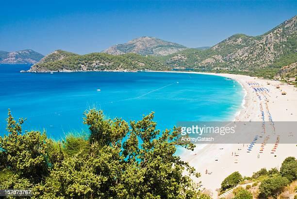 Beautiful view of the Oludeniz beach in Fethie, Turkey