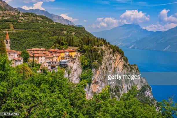 Beautiful view on Pieve in Tremosine, Lake Garda