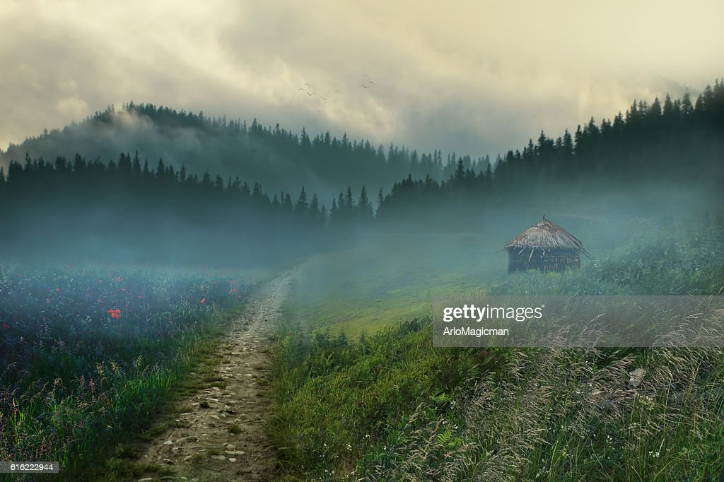 beautiful village : Stock Photo