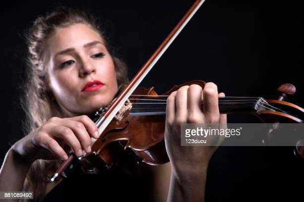 Beautiful Violinist Woman
