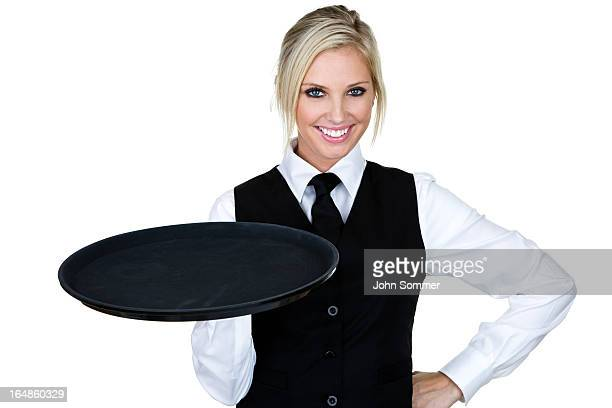 Beautiful waitress or barmaid